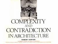 Robert Venturi — Complexity and Contradiction in Architecture