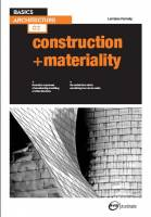 BASICS ARCHITECTURE construction+materiality 2