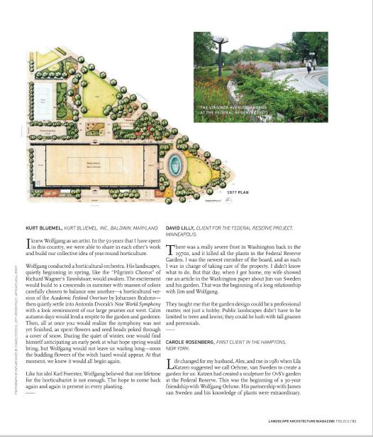 Landscape architecture magazine february 2012 31 for American institute of landscape architects